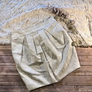 Anthropologie mignon doo metallic pleat skirt
